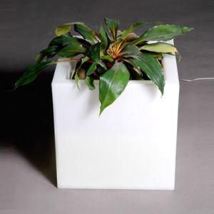 Slide Pot de fleurs carré lumineux Q-Pot Light 73 x 73 x 73 cm
