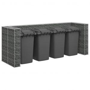 VidaXL Mur en gabion pour poubelles Acier galvanisé 320x100x120 cm