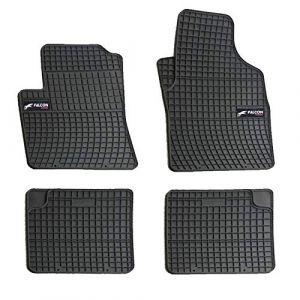DBS 1765880 Tapis Auto en Caoutchouc - Sur Mesure - Tapis de sol pour Voiture - 4 Pièces - Caoutchouc Haute Qualité - Inodore - Antidérapant - Rebords Surélevés