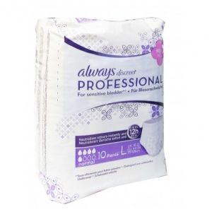 Always Discreet Professional, taille L (Paquet de 10 protections)