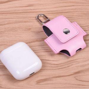 WeWoo Etui Casque / Ecouteurs rose pour Apple AirPods Creative sans fil Bluetooth écouteurs PU en cuir sac de protection Anti perte de rangement avec crochet n'est pas inclus