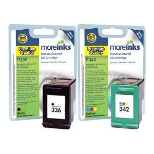 Moreinks 2 Cartouches d'encre compatibles HP 336 noire et HP 342 3 couleurs