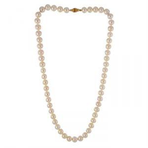 Rêve de diamants CDNCPOR211 - Collier en or 750° et perles d'eau douce