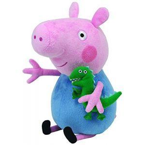 Image de Ty Peppa Pig - Peppa le cochon - Peppa Large - George - Peluche - 28 cm