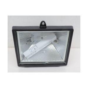 Abi Projecteur extérieur halogène 400W noir avec lampe R7S vis inox 185X165X130mm IP44 AL_38602