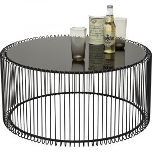 Kare Design Table basse ronde Wire noir 2 set dfbaca0f4a22
