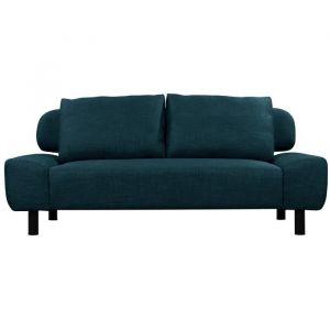 ELIOT Banquette clic clac convertible 2 places Tissu bleu Style contemporain L 186 x P 93 cm