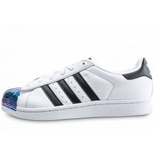 Adidas Superstar Metal Toe Blanche Et Iridescent Baskets/Tennis Femme