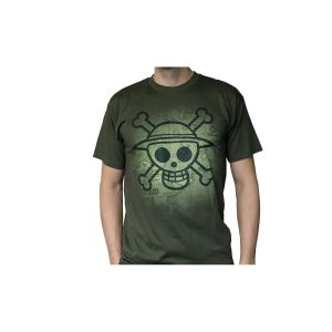 T-Shirt 'One Piece' - Skull With Map Used - Kaki - Taille M