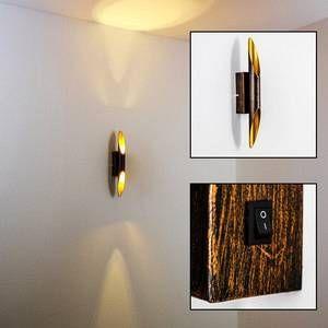 Trio Applique BOLERO LED Rouille, 2 lumières