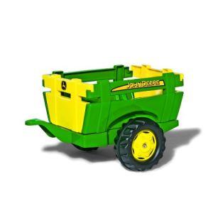 Rolly Toys Remorque avec rehausses John Deere pour tracteur à pédales