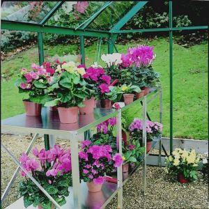 Chalet et Jardin Table réversible en aluminium pour serre 114 x 50 x 80 cm