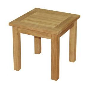 Teck'Attitude Table basse d'appoint carrée en teck 45 x 45 cm