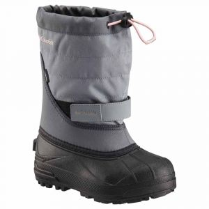 Columbia Bottes Powderbug Plus Ii Children - Grey Ash / Rosewater - Taille EU 31
