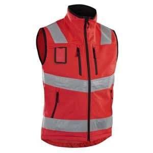 Blaklader Gilet Softshell haute visibilité Rouge fluo 3049 - Rouge - XXXL