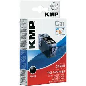 KMP C81D - 2 Cartouches d'encre noire compatibles Canon PGI-525 PGBK