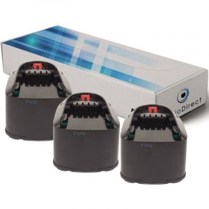 Visiodirect Lot de 3 batteries pour Bosch PST 18 LI scie sauteuse 3000mAh 18V