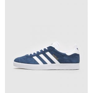 Adidas Gazelle, Sneakers Basses Mixte Adulte, Bleu (Collegiate Navy/White/Gold Met), 41 1/3 EU