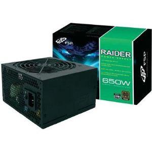 Fortron Raider 650W - Bloc d'alimentation PC certifié 80 Plus Bronze
