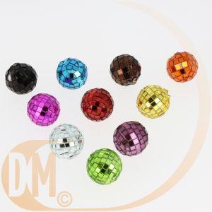 4 mini boules à facettes (3.5 cm)