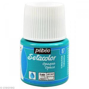 Pebeo Peinture tissu Setacolor - Opaque - Turquoise - 45 ml