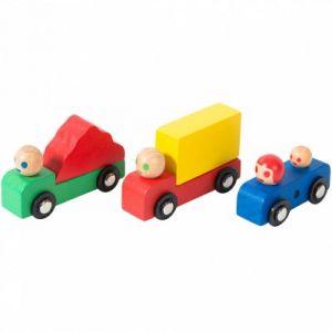 Moulin roty Set voiture et camions en bois Dans la ville