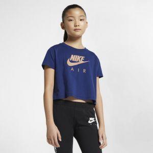 Nike Haut court Air pour Fille plus âgée - Bleu - Taille S - Female
