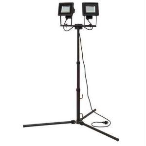 Brennenstuhl Pied télescopique et 2 projecteurs LED SMD SL DN DUO IP44 2m 2x 24x 0,5W H05RN-F3G1,0