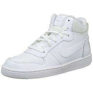 Nike Chaussure Court Borough Mid pour Enfant plus âgé - Blanc Taille 40
