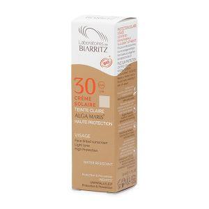 Laboratoires de Biarritz Crème solaire Bio Visage Teintée beige ALGA MARIS® SPF30