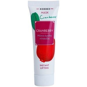 Korres Mask&Scrub Cranberry masque liftant effet instantané