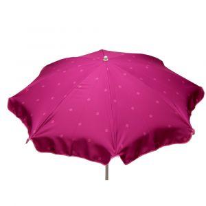 Jardin prive Parasol rond SOLEA Framboise