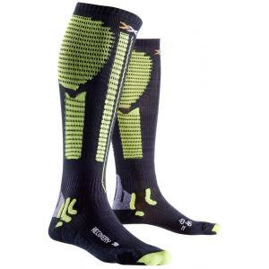 X-Socks Precuperation Chaussettes de compression Noir/acid Green FR : M (Taille Fabricant : 43-46)