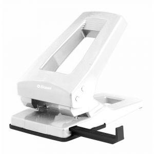 Brause 284202B - Perforateur 2 trous, capacité 6,3 mm/63 feuillets, coloris blanc