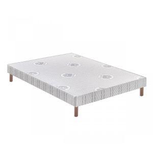Bultex Sommier tapissier confort ferme 14 cm pieds 90x190