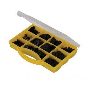 Silverline 244653 - Coffret de rondelles assorties pour robinet 140 pcs