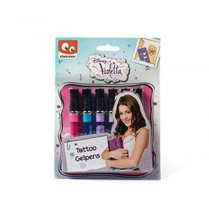Slammer 6 stylos gel pour tatouage Violetta Disney