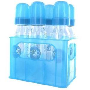 dBb Remond Porte-biberons avec 6 biberons en verre 240 ml et tétine nouveau-né en silicone