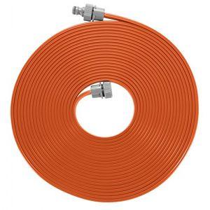 Gardena Arroseur souple : arroseur à pulvérisation pour massifs et surfaces étroits, pulvérisation fine, adapté à de nombreux raccords, réglage de la longueur, 15 m, orange (996-20)