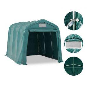 VidaXL Tente de garage PVC 2,4 x 3,6 m Vert