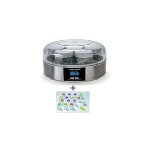 Lagrange 439109 - Yaourtière 7 pots + kit pour yaourts à boire