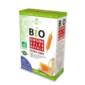 3 Chênes Ampoules Bio Ginseng Gelée Royale Extra Fort