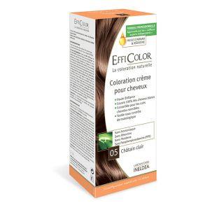 EffiColor Châtain Clair N°05 - Coloration crème pour cheveux
