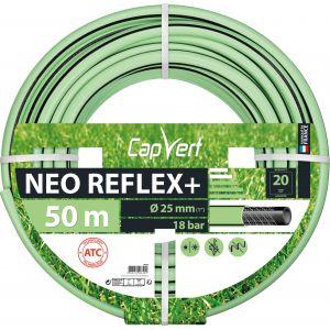 Cap Vert Tuyau d'arrosage Néo Reflex+ -Diamètre 25 mm - Longueur 50 m