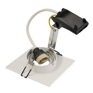 SLV Spot encastrable Ampoule halogène, LED GU10 113451 50 W blanc (mat)