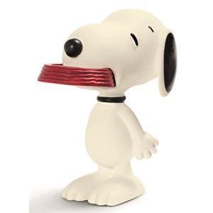 Schleich Snoopy tenant son bol - Figurine Peanuts 5 cm