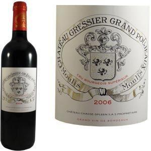 Château Gressier Grand Poujeaux 2006 - Vin rouge de Bordeaux (AOC Moulis)