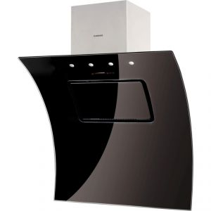 Nodor Evo Black - Hotte décorative îlot inclinée 90 cm