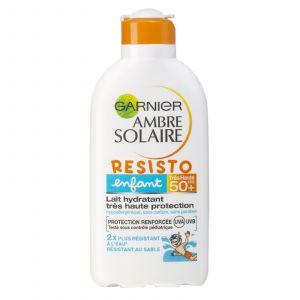 Garnier Ambre Solaire Resisto - Lait solaire enfant FPS50+