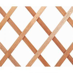 Nortene Treillis extérieur Treilliwood, en bois naturel, 100 x 200 cm